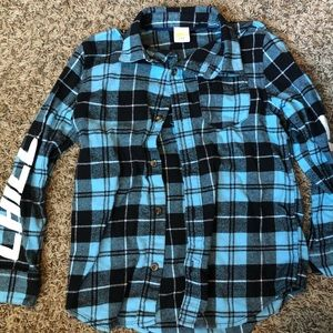 BUNDLE OF 3 - Flannel button down shirts size 5/6